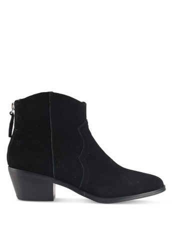 TOPSHOP black Betty Western Ankle Boots 81F20SH3E74DFAGS_1