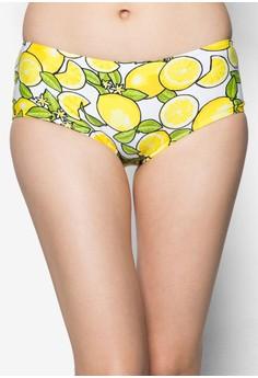 檸檬平口泳褲