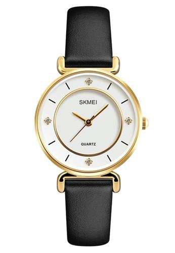 Digitec black Skmei - Jam Tangan Wanita - Gold - Black Leather Strap - 1330-A 24FB7ACC1C63C6GS_1