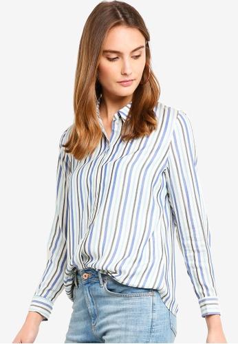 ESPRIT blue Woven Long Sleeve Shirt 4E945AA2D3F3BCGS_1