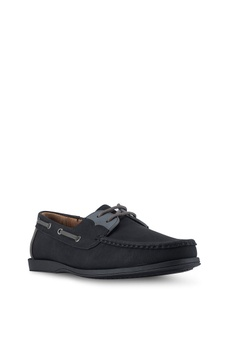 47% OFF ZALORA Faux Leather Contrast Colour Boat Shoes Php 1,499.00 NOW Php  799.00 Sizes 39 42 45