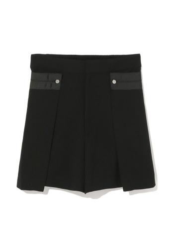 tout à coup black Layered tailored shorts 72C3FAAFC6EC36GS_1