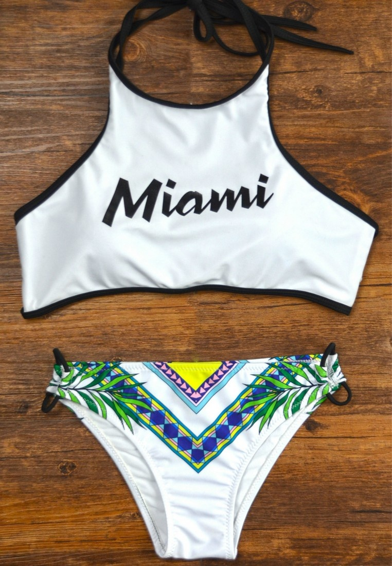 Multi Floral Lady multi LXY09330 Swimwear Printed Bikini Color LYCKA gYEwq55