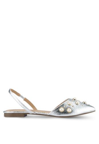 Something Borrowed silver Pearl Slingback Flats 1A4FBSHCFCDB21GS_1