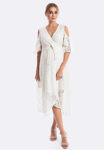 c69d53014f4 Maive Bo Aria Lace Maternity Dress In White Zalora Hk