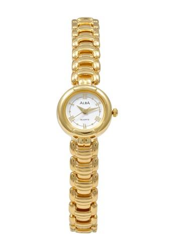 Alba gold ALBA Jam Tangan Wanita - Gold - Stainless Steel - AWKE26 5FE16AC32B2D07GS_1
