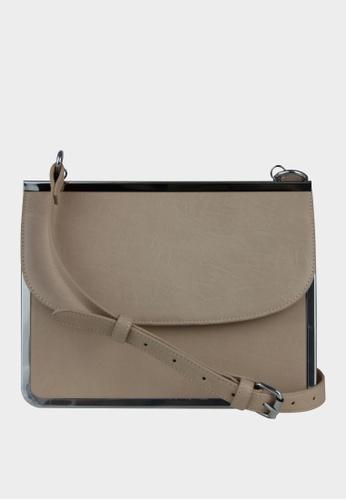 London Rag brown Sling bag with flap closure C3591AC62FE915GS_1