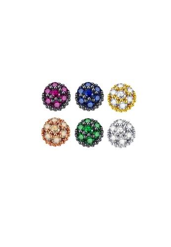 SUNRAIS gold High quality Silver S925 gold simple design earrings C5DB5ACC7A0337GS_1