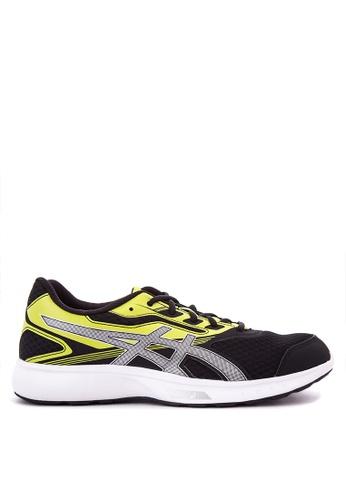 Asics black and green Stormer Sneakers AS445SH0KAE6PH_1