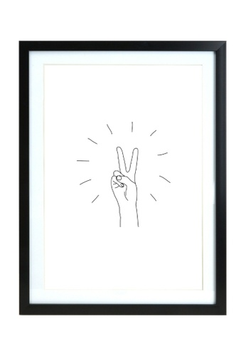 Klosh black Black A3 Frame - Peace Sign A4491HL55F9DE7GS_1