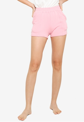 UniqTee pink Comfort Shorts with Elastic Waistband EA086AA5931536GS_1
