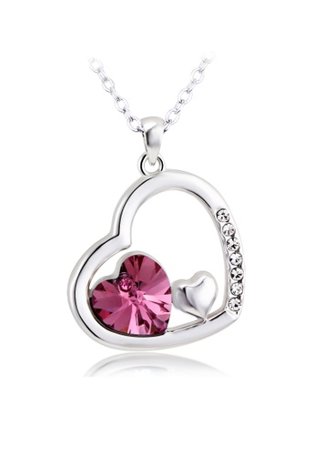 OUXI pink and silver OUXI Passion of Love Necklace OU821AC74GLTMY_1