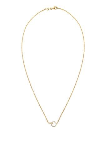 ELLI GERMANY white Swarovski® Crystals Gold Necklace 361EBACA2292E6GS_1