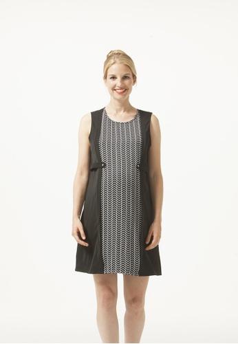 Bove by Spring Maternity black Sl Zabrina Chevy Nursing Dress Black Print 2E7BDAA65A0016GS_1