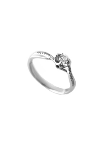 GOLDHEART gold GOLDHEART The Floriated Knot Ring, Diamond White Gold 750 (R3401) 2A2CBAC4763F5EGS_1