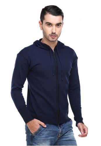 Hamlin navy Hamlin Clover Jaket Hoodie Pria Kasual Casual Jacket Material Rajut Premium ORIGINAL A6414AA258247BGS_1