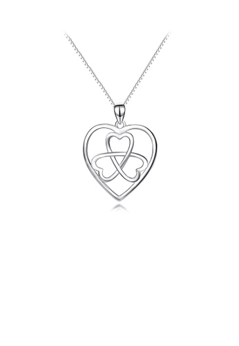 Glamorousky silver 925 Sterling Silver Fashion and Elegant Celtic Heart Pendant with Necklace 8D618ACEE7F15EGS_1