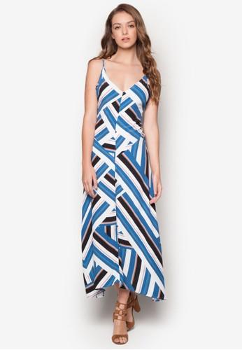 條紋細肩帶連身長裙, 服飾esprit台北門市, 洋裝