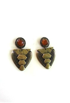 Geometric Pattern Oxidized Earrings