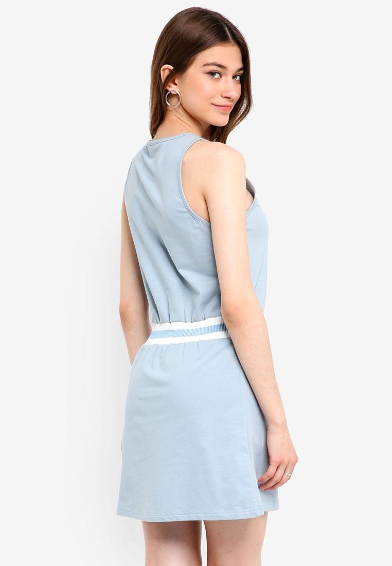 Something Stripe Dress Cut Blue Rib Borrowed Powder In ggBU78