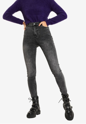 PIMKIE grey High Waist Skinny Jeans EFAD2AA2A72F8CGS_1