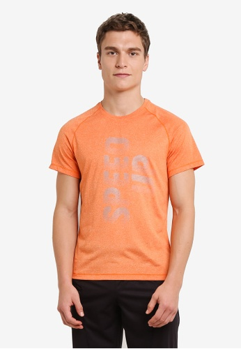 Odlo orange Aion Short Sleeve T-Shirt OD608AA0S13RMY_1