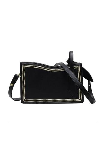 Lara black Women's Fashionable Zipper Leather Cross-body Bag - Black 012D5AC92DF561GS_1