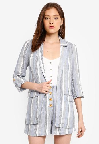 e6f819d55 Shop ONLY Emmely 3/4 Stripe Blazer Online on ZALORA Philippines