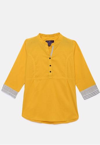 ZALZA gold 100% Organic Cotton Lio Girls Fashion Top - Golden Rod 95E8CKA4C8253AGS_1