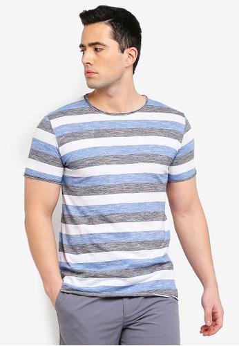e2f4e3a3957 Buy !Solid Buke Striped Melange T-Shirt Online on ZALORA Singapore