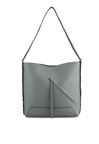 TOPSHOP grey Sicily Asymmetric Hobo Bag TO412AC0SHI6MY_1