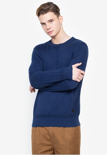 Cortefiel navy Plain Oxford Shirt D21A0AA1FF52DCGS_1