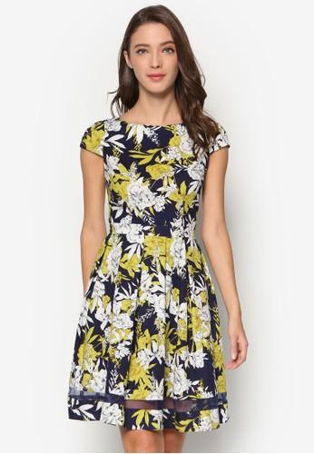 花卉棉質傘esprit tw擺洋裝, 服飾, 服飾