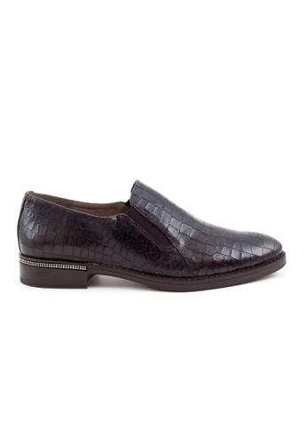Shu Talk brown Stylish Snakeskin Calf Leather Loafer Shoes SH397SH0GA2ESG_1