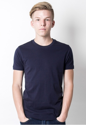 2nd Edition navy Back to Basic Tee in Navy Blue 2N610AA39EKMSG_1