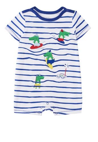 Du Pareil Au Même (DPAM) white Striped Bodysuit A4589KA8201FD8GS_1