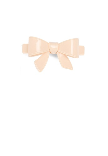 Glamorousky beige Simple and Cute Beige Ribbon Small Hair Slide E07F8ACEB79EB8GS_1