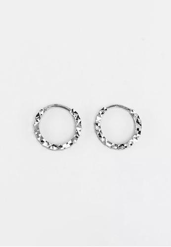 Arthesdam Jewellery Arthesdam Jewellery 18K White Gold Sparkles Petite Hoop Earrings - 0.7g 6CB88AC7999208GS_1