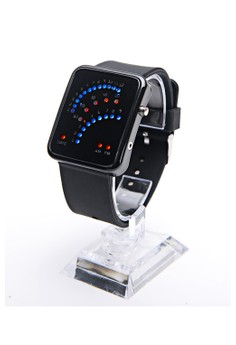 Binary Unisex Waterproof Fashion Sector Led Silica Gel Electronic Watches
