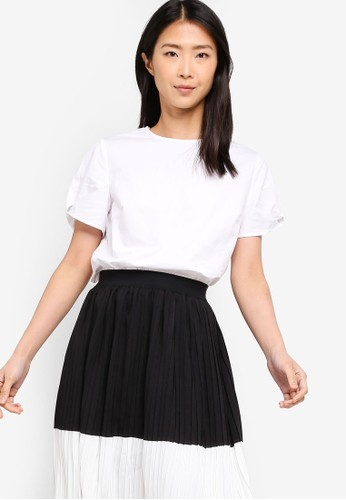 ZALORA BASICS white Basic Puff Sleeves Boxy Top 3F312AAFB82798GS_1