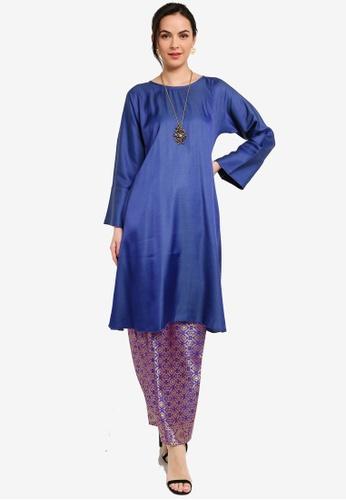 Yans Creation blue KAYLA Kurung Pahang Moden CD188AAED0331FGS_1