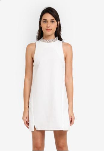 Something Borrowed white Neckline Hardware Shift Dress CA12CAA557194FGS_1