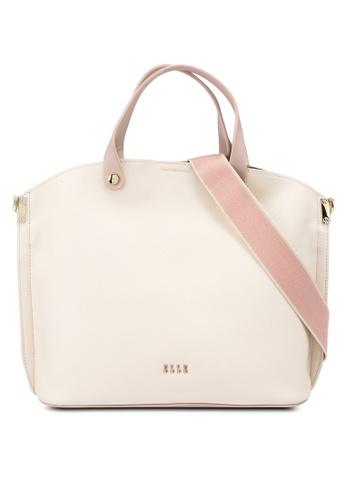 ELLE beige Iris Carry Bag F6432AC6C03DCCGS_1