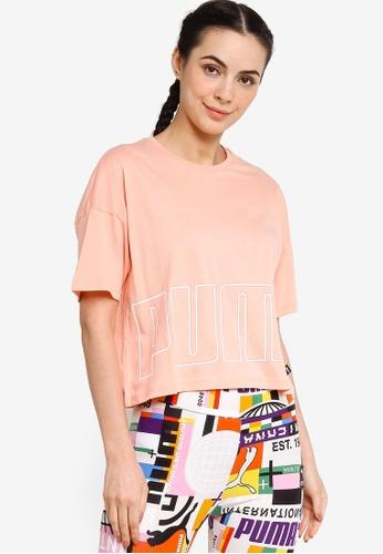 Puma pink Logo Cropped Women's Tee 10C21AA8891E83GS_1