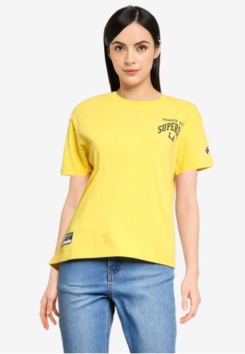 Superdry yellow Varsity Arch Mini Boxy Tee - Sportstyle Code 95864AA75CB765GS_1