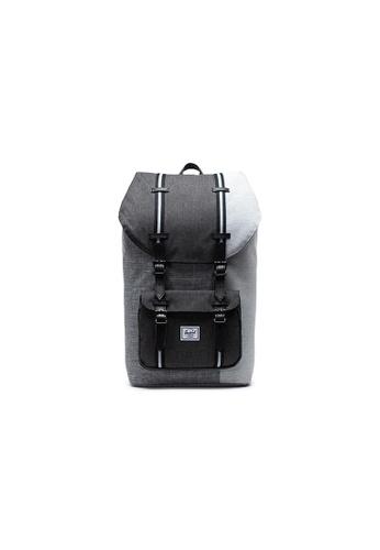 Herschel grey Herschel Little America - Raven Crosshatch/Black Crosshatch/Lt Grey Crosshatch Backpack 3A811AC471F8F4GS_1
