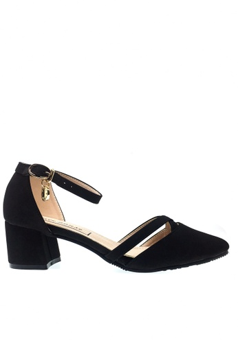 Twenty Eight Shoes black Cross Strap Mid Heel 546-29 TW446SH2V54AHK_1