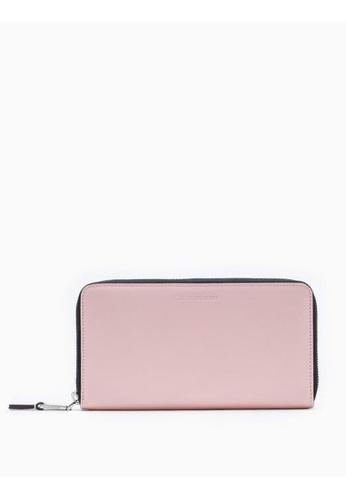 Calvin Klein pink Continental Zip-Around Wallet DB38EACB4FF2F5GS_1
