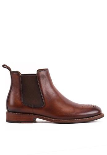 Twenty Eight Shoes brown Bittters Vintage Leather Chelsea Boot 618-169 D8B0ESHA08AB03GS_1