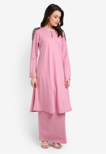 Zuco Fashion pink Riau Cut Mini Kurung ZU882AA0RIKKMY_1